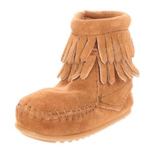 Minnetonka-Double-Fringe-Bootie-(Infant-Toddler)-taupe