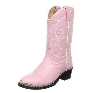 Durango-Lil'-Dusty-Pink-N-Chrome-Western-Boot-(Toddler-Little-Kid)-profile