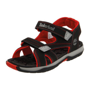 Timberland-Mad-River-2-Strap-Sandal-(Toddler-Little-Kid-Big-Kid)-black-red