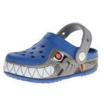 crocs-CrocsLights-Robo-Shark-PS-Clog-(Toddler-Little-Kid)-blue-silver