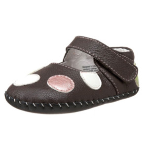 pediped-Originals-Giselle-Mary-Jane-Crib-Shoe-(Infant)-brown