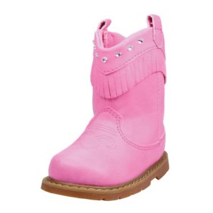 Pink-Infant-&-Toddler-Girls-Cowboy-Western-Boots-w-Fringe-&-Rhinestone-Accents-pink
