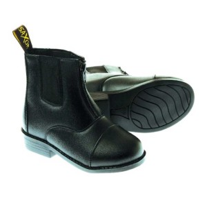 Saxon-Equileather-Childrens-Zip-Up-Paddock-Boot-black
