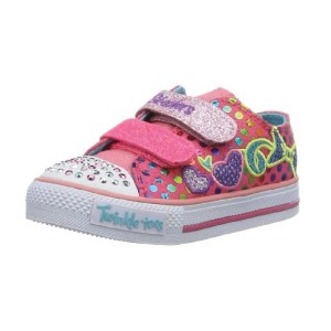 Skechers-Kids-10361L-TWINKLE-TOES---Shuffles---Burst-O'-Fun-Sneaker-with-blinking-lights-(Little-Kid)-neon-pink