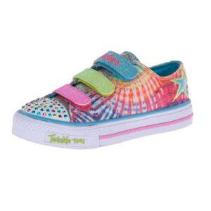 Skechers-Kids-10383L-TWINKLE-TOES---Shuffles---Peace-N'-Love-Light-Up-Sneaker-(Little-Kid)