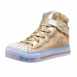 Skechers-Kids-10405L-TWINKLE-TOES---Shuffles---Heart-&-Sole-Light-Up-Sneaker-(Little-Kid)-gold