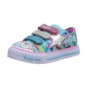 Skechers-Kids-TWINKLE-TOES-Classy-Sassy-Sneaker-with-Blinking-Lights-(Little-Kid)-aqua