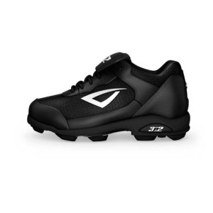 3N2-Sports-Youth-Unisex-Rookie-Softball-Baseball-Cleats-black