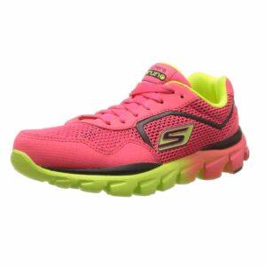 Skechers-Kids-80685L-GO-Run-Ride-Sneaker,Black-Multi,-11-M-Tod-neon-pink