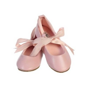 Ballerina-Ribbon-Tie-Rubber-Shoes-Cinderella-Flats-Toddler-Party-pink